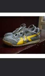 Gray and Yellow Rubber Shoes from Italy