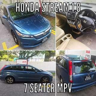 Honda stream mpv (7 seater) for rent .