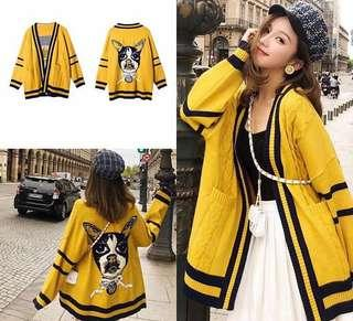 NEW knitted yellow outer