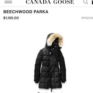 canada goose authentic beechwood parka