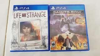 Life is Strange dan Saints Row PS4