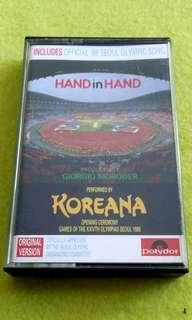 KOREANA   hand in hand ( official 1988 seoul olympic song ) cassette tape not vinyl record