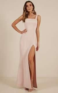 Guest List Maxi Dress in Blush