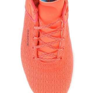 Reebok Women's Skyscape Fuse Walking Shoe Neon Cherry and White Sole Size 8.5AU