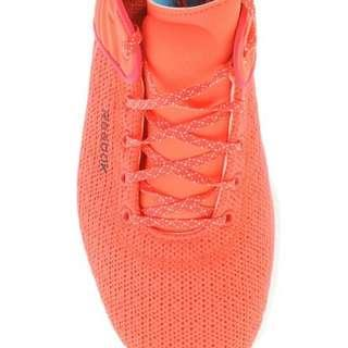 Reebok Women's Skyscape Fuse Walking Shoe Neon Cherry and White Sole Size 9.5AU