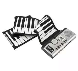 💥Flexible Roll Up Electric Piano Soft Keyboard Piano Portable 61 Keys