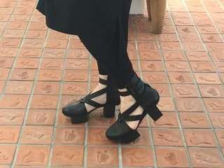 🚚 Trippen 德國品牌 happy系列 高跟綁帶全真皮跟鞋 /SHOEX/Dr.martens vintage 二手