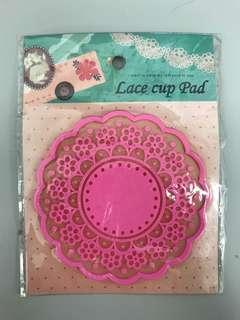 粉紅色矽膠杯墊