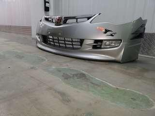 Used silver civic stock bumper with bodykit and fog light
