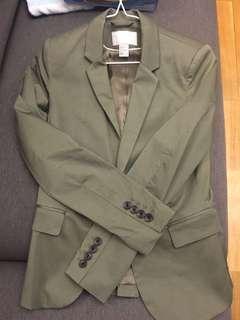 H&M olive green suit jacket