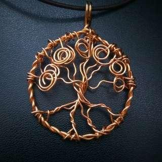🚚 Tree of Life Pendant Necklace, Non Tarnished Copper Wire Wrapped Tree of Immortality, Eternal Life Tree Bearing Fruits, Women's Gift