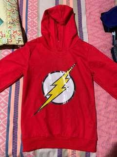 FLASH Inspired Hoody Jumper Boys Size 4 EUC