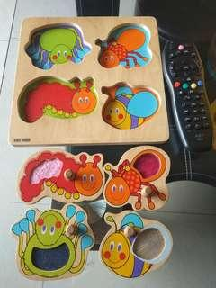 Bugs wooden puzzle (got sensory in every bug body)