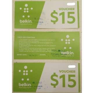 Belkin $15 Voucher x 3