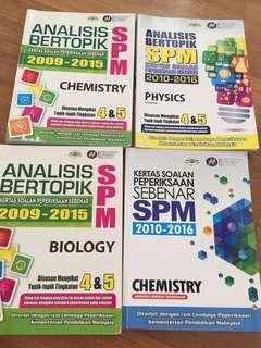 SPM Workbooks Chem,Bio,Phy