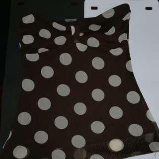 Brown polka dots tube