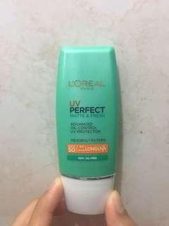 L'oreal UV Perfect Matte & Fresh UV Protector / Sunblock / Sunscreen
