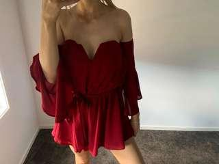 🍷 Red (wine) playsuit