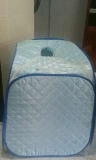 Baby Blue portable sauna with chair