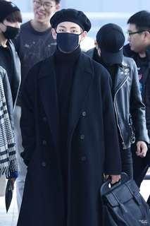 🚚 BTS TAEHYUNG V BLACK COAT