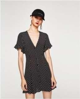 Zara Pulka Dot Dress