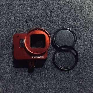 GoPro Hero5 Aluminum alloy case with 52mm UV filter lens