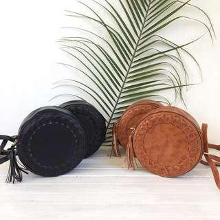 Boho Leather bag iwth tassel
