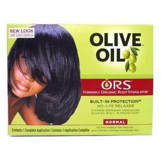 ORS Olive Oil REGULAR Strength Hair Relaxer/Texturiser/Straightener Kit