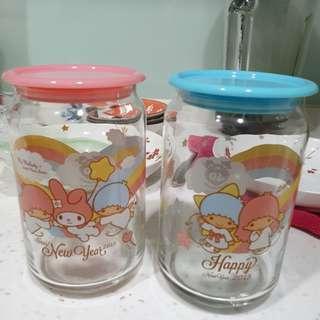 🚚 雙子星玻璃罐全新可換物
