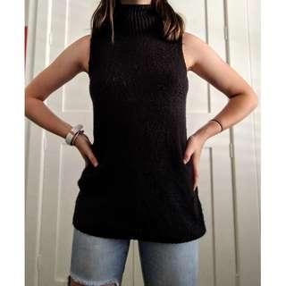 Bardot black knit turtle neck