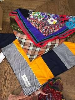 Italian Silk scarves - some designer