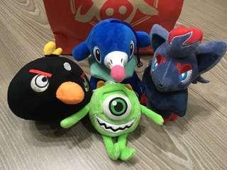 ‼️今日下單消費🈵️額$600(🈚️議價),贈送4隻可愛小玩偶~
