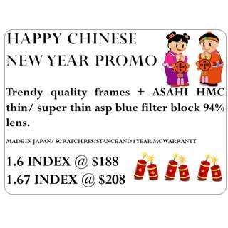 🚚 CHINESE NEW YEAR PROMOTION - MADE IN JAPAN ASAHI LENS UV420 BLUE FILTER CUT 94%