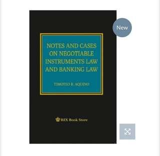Law on Negotiable Instruments 2018 edition by Timoteo Aquino