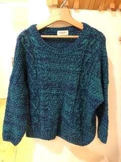 🚚 含運*藍綠針織毛衣~韓單二手衣