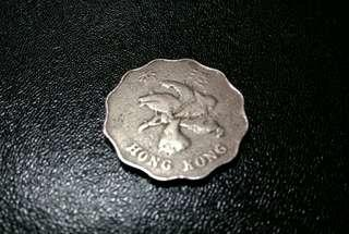 罕有錯幣(雪花幣)1993年香港2圓硬幣,冲壓過程出錯形成雪花幣。