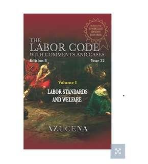 Law on Labor Standards 2016 edition by Azucena