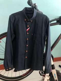CNY Navy Blue Long Sleeves Shirt