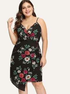 Plus size overlap dress