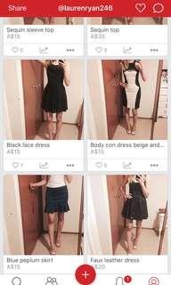 New clothes listed