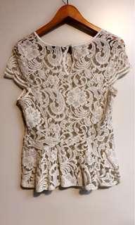 Bardot lace top - size 14