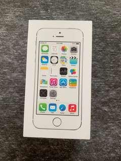 iPhone 5s Silver 16GB(BOX ONLY)