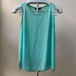 Turquiose Sleeveless Top