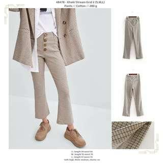 Korean pants - kotak kotak 48478