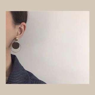 [NEW] Korean Circle Round Wood Design Earring Casual Workwear Beachwear Jewelry Accessories Women Earrings