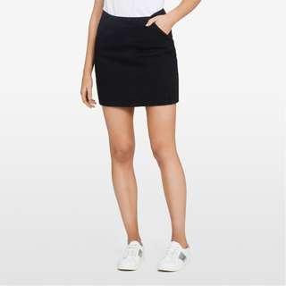 FRENCH CONNECTION Black Mini Denim Skirt