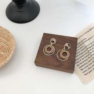 [NEW] Korean Round Circle Gold Plated Retro Vintage Fashion Stud Drop Earring Jewelry Accessories Women Earrings Gift