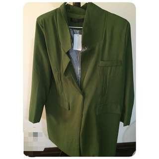🚚 西裝大衣墨綠外套