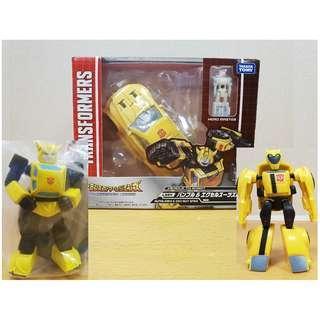 Transformers bumblebee x 3 titans return takara animated legends classic