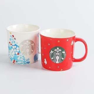 Starbucks 冬日聖誕款淘瓷杯